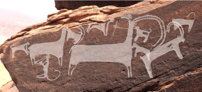 개들이 아이벡스를 공격하는 장면이다. - '인류학적 고고학 저널' 제공